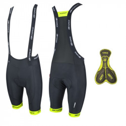 Pantaloni Scurti Force cu Bazon si Bretele B45 Negru/Fluo