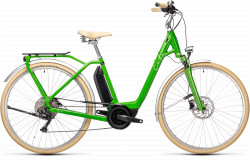 BICICLETA CUBE ELLA RIDE HYBRID 400 EASY ENTRY Applegreen White
