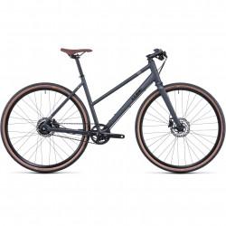 Bicicleta CUBE HYDE RACE IRIDIUM BLACK TRAPEZE Grey Black