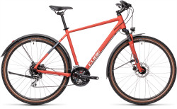 BICICLETA CUBE NATURE ALLROAD Red Grey