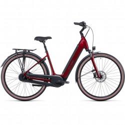 Bicicleta CUBE SUPREME HYBRID PRO 625 EASY ENTRY Red Black