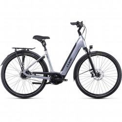 Bicicleta CUBE SUPREME RT HYBRID SL 625 EASY ENTRY Polarsilver Black