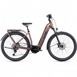 Bicicleta CUBE TOURING HYBRID EXC 500 EASY ENTRY Mocha Black