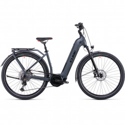 Bicicleta CUBE TOURING HYBRID EXC 625 EASY ENTRY Grey Red