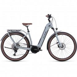 Bicicleta CUBE TOURING HYBRID PRO 625 EASY ENTRY Lunar Grey