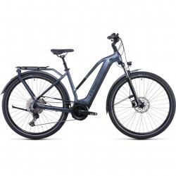 Bicicleta CUBE TOURING HYBRID PRO 625 TRAPEZE Metallicgrey Black