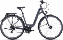 Bicicleta CUBE TOURING IRIDIUM GREEN EASY ENTRY Grey Green