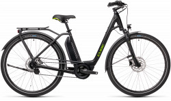 BICICLETA CUBE TOWN HYBRID ONE 400 EASY ENTRY Black Green