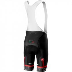 Pantaloni Scurti cu Bretele Castelli Volo Negru/Alb