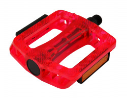 Pedale Longus MTB/BMX Rosu transparent