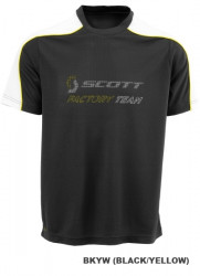 Tricou Scott Factory Team Negru/Galben