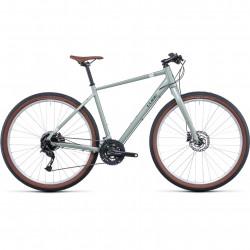 Bicicleta CUBE HYDE Green Grey