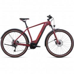 Bicicleta CUBE NURIDE HYBRID PERFORMANCE 500 ALLROAD Darkred Red