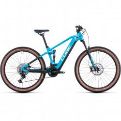 Bicicleta CUBE STEREO HYBRID 120 PRO 625 Skyblue White