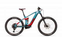 BICICLETA CUBE STEREO HYBRID 160 HPC RACE 625 27.5 Blue Red