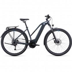 Bicicleta CUBE TOURING HYBRID ONE 400 TRAPEZE Grey Blue