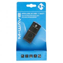 Far M-Wave cu Acumulator Apollon K 20 USB Aluminiu