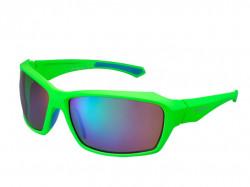Ochelari Shimano CE-S22X rama mat neon green/light blue lentile smoke green mirror