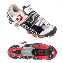 Pantofi Force MTB Hard Negru/Alb/Rosu