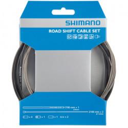 Set cablu/camasa schimbator Shimano Road PTFE Coating Negru