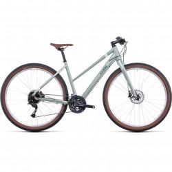 Bicicleta CUBE HYDE TRAPEZE Green Grey