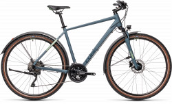 BICICLETA CUBE NATURE PRO ALLROAD Blue Green