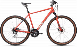 BICICLETA CUBE NATURE Red Grey