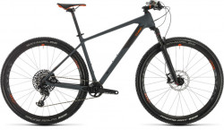 "BICICLETA CUBE REACTION C:62 RACE GREY ORANGE 19"" 2020"