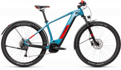 BICICLETA CUBE REACTION HYBRID PERFORMANCE 400 ALLROAD Blue Red