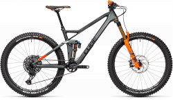 BICICLETA CUBE STEREO 140 HPC TM 27.5 Flashgrey Orange