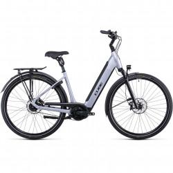Bicicleta CUBE SUPREME HYBRID SL 625 EASY ENTRY Polarsilver Black