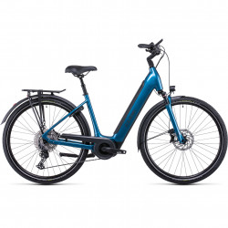 Bicicleta CUBE SUPREME SPORT HYBRID EXC 625 EASY ENTRY Blue Black