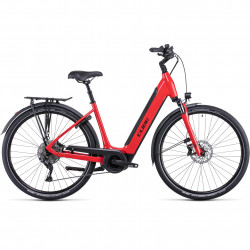 Bicicleta CUBE SUPREME SPORT HYBRID PRO 500 EASY ENTRY Red Black