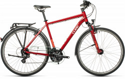 BICICLETA CUBE TOURING Darkred Grey
