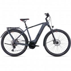 Bicicleta CUBE TOURING HYBRID EXC 500 Grey Red