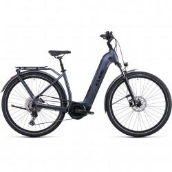 Bicicleta CUBE TOURING HYBRID PRO 625 EASY ENTRY Metallicgrey Black