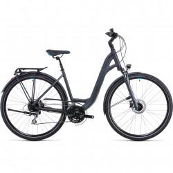 Bicicleta CUBE TOURING ONE IRIDIUM BLUE EASY ENTRY Grey Blue