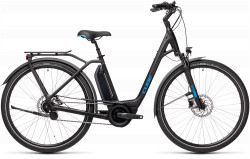 BICICLETA CUBE TOWN HYBRID PRO 500 EASY ENTRY Black Blue