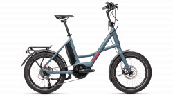 BICICLETA CUBE COMPACT HYBRID SPORT Blue Red