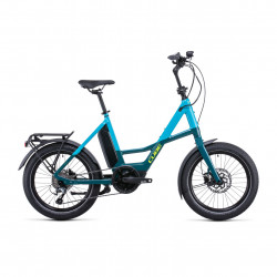 Bicicleta CUBE COMPACT SPORT HYBRID 500 Blue Lime
