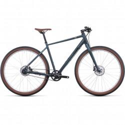 Bicicleta CUBE HYDE PRO Deepblue Silver