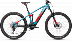 BICICLETA CUBE STEREO HYBRID 120 RACE 625 Blue Red