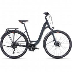 Bicicleta CUBE TOURING EXC IRIDIUM ORANGE EASY ENTRY Grey Orange