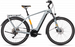 BICICLETA CUBE TOURING HYBRID PRO 625 Grey Orange