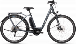 BICICLETA CUBE TOWN SPORT HYBRID ONE 500 EASY ENTRY Iridium Grey