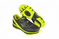 Pantofi ciclism FLR Energy MTB - Negru-Galben Neon