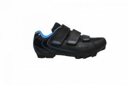 Pantofi ciclism FLR F-55 III Elite MTB - Negru-Albastru