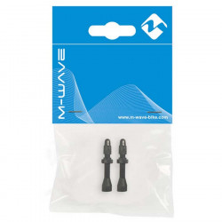 Set Valve Tubeless M-Wave FV 47 mm Baza Rectangulara Negru