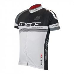 Tricou Ciclism Force Lux Negru/Alb