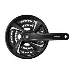 Angrenaj Shimano Tourney FC-TX801 3x6/7/8 V Negru Brat 175mm